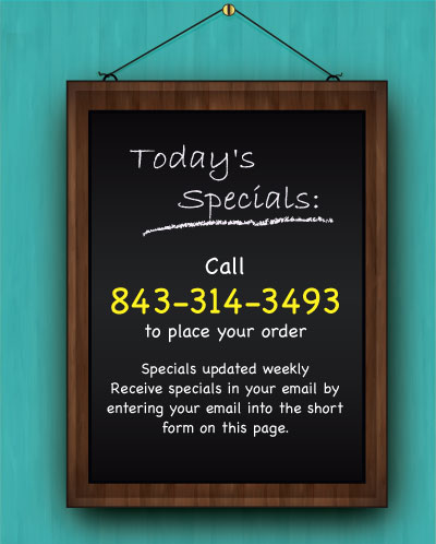 Pawleys Island Takeout specials
